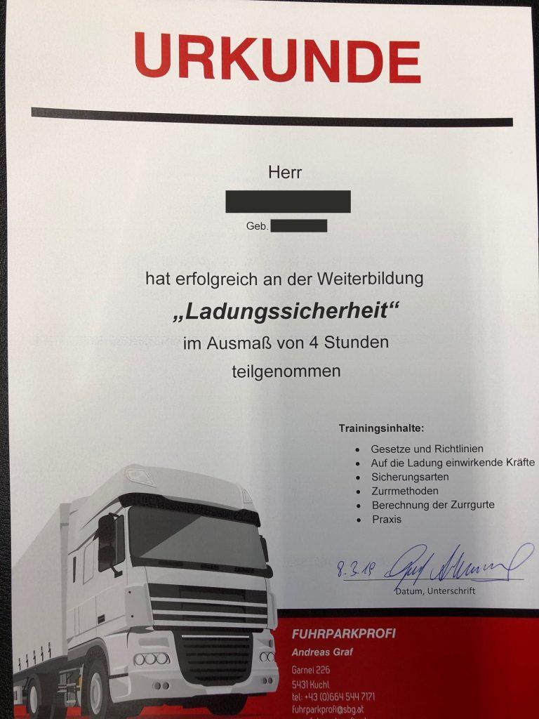 Urkunde_Ladungssicherungskurs